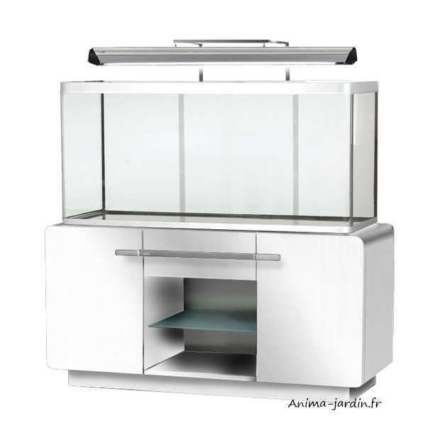 aquarium osaka 320 blanc quip avec meuble design hagen achat vente aquarium aquarium. Black Bedroom Furniture Sets. Home Design Ideas