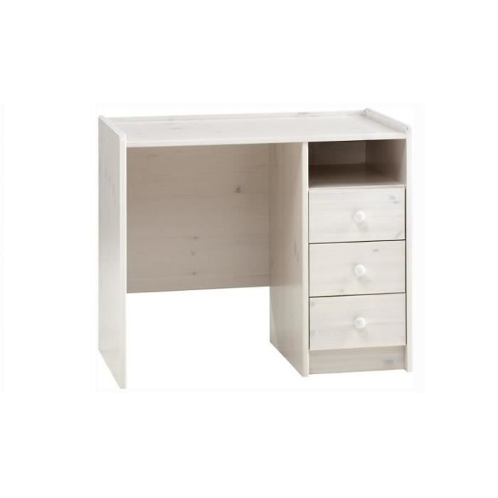 bureau pour chambre volo lasure blanc achat vente. Black Bedroom Furniture Sets. Home Design Ideas
