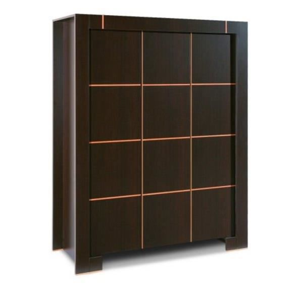 armoire dressing 3 portes moderne wenge sans surmeuble achat vente armoire de chambre. Black Bedroom Furniture Sets. Home Design Ideas