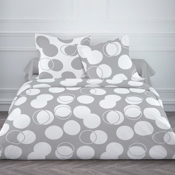 couette 220x240 bulles blanches achat vente couette cdiscount. Black Bedroom Furniture Sets. Home Design Ideas