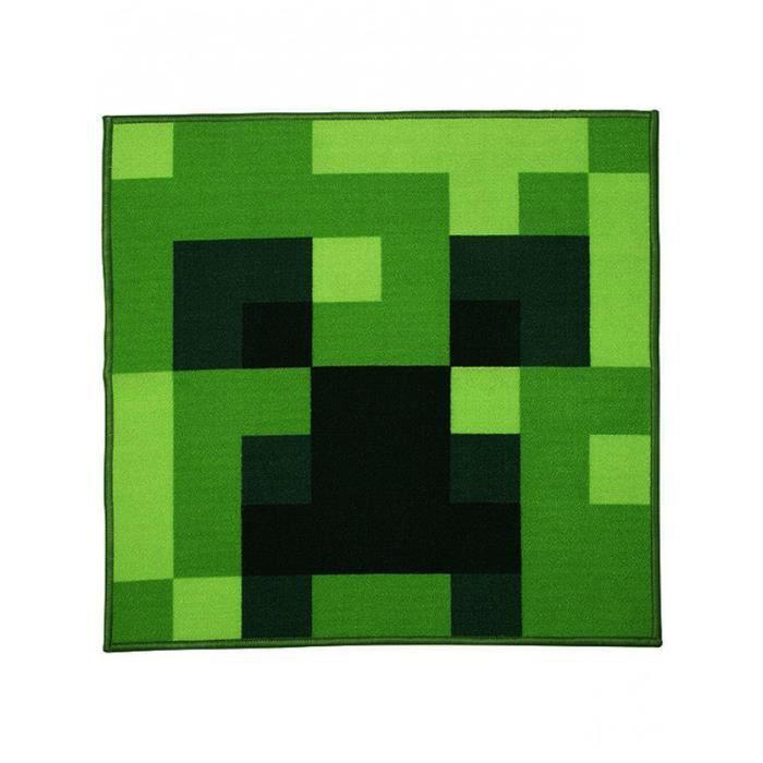 Tapis Creeper Square Minecraft Achat Vente Tapis Cdiscount