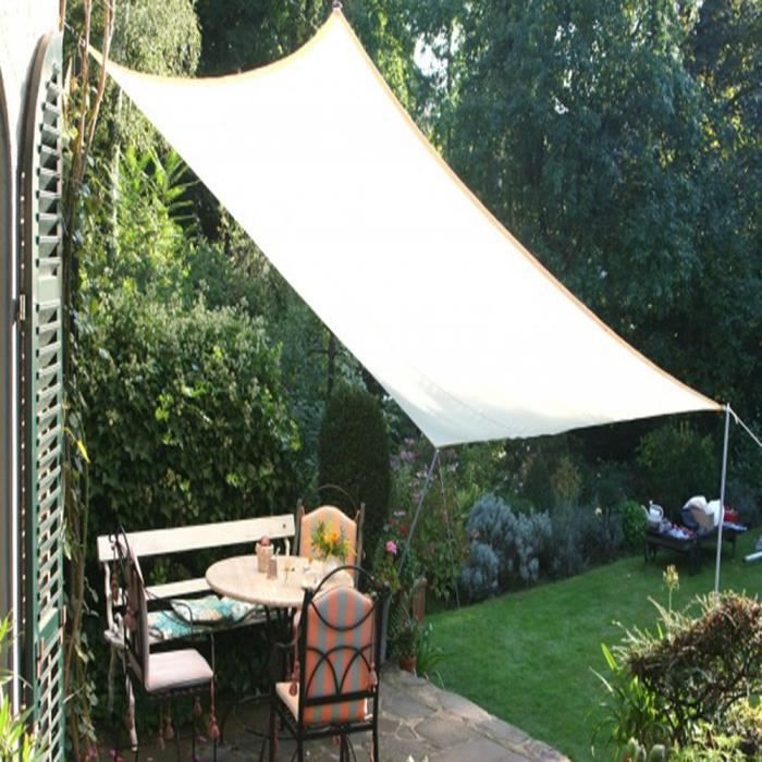 Voile d ombrage retractable awesome voile duombrage voile for Toile tendue exterieur impermeable