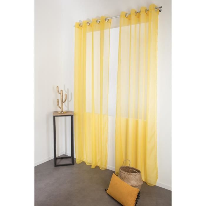 rideau voilage jaune  achat  vente pas cher