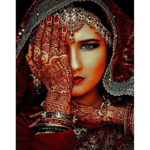 TAPIS Tapis de salon déco - Marokko - Portrait femme ara
