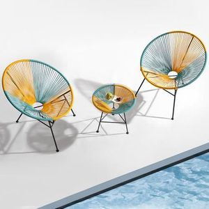 Ensemble table et chaise de jardin Fauteuils de jardin design avec table d'appoint -