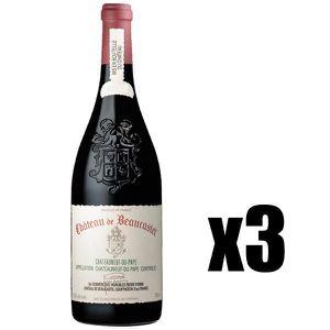 VIN ROUGE X3 Côtes du Rhône Coudoulet de Beaucastel 2001 75