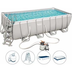 PISCINE BESTWAY Kit Piscine rectangulaire tubulaire L4,88