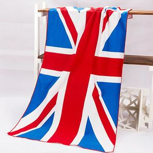 serviette de bain avec drapeau anglais. Black Bedroom Furniture Sets. Home Design Ideas