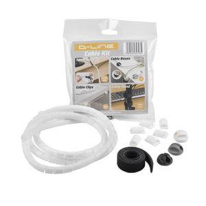 Versilitle Gestion des c/âbles Solution-30x15mm x 1-m/ètre Blanc Organisateur Solution Courant Cache D-Line 1MCT3015W Mini CableTraC