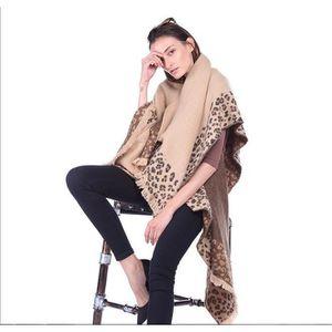 Femme Imprimé Léopard hijab écharpe châle Foulards cou wrap 90*90cm