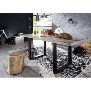 TABLE À MANGER SEULE Table à manger 210x100cm - Fer brut et Bois de man
