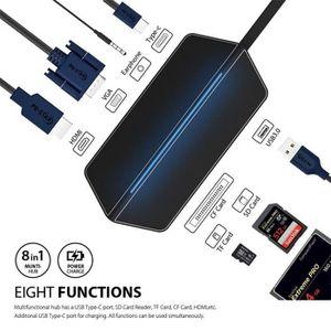 SWITCH - HUB ETHERNET  Hub USB3.0 HDMI+VGA Adaptateur Switch - HUB Ethern