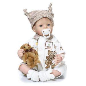 POUPON 22 pouces 55 cm Silicone Baby Dolls Pour Blue Eyes