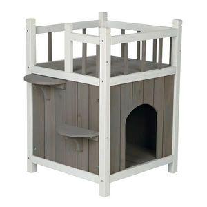 MAISON DE TOILETTE Maison pour chats avec balcon