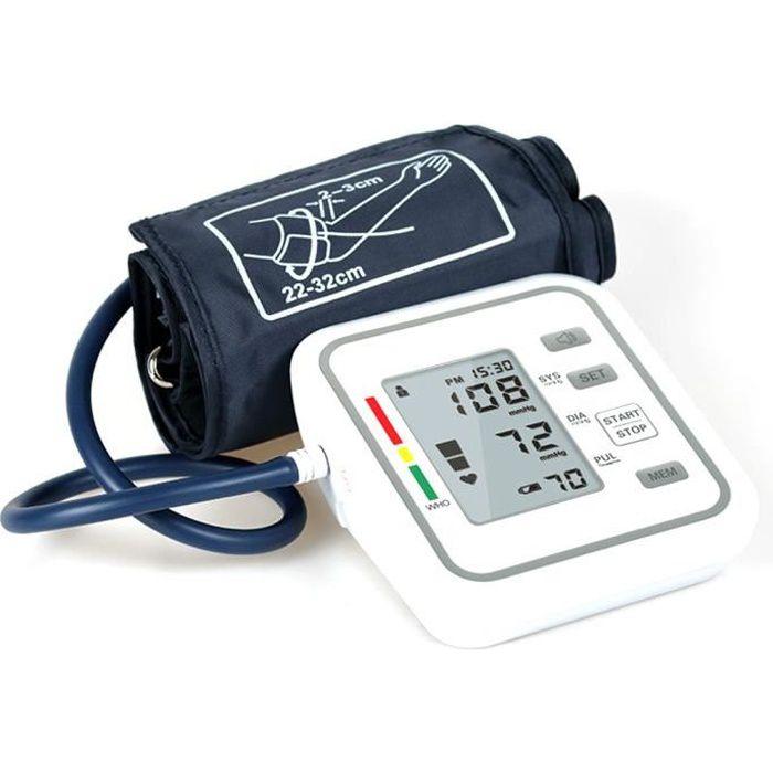 Tensiomètre électronique automatique de style bras avec grand écran LCD Pression artérielle intelligente numérique