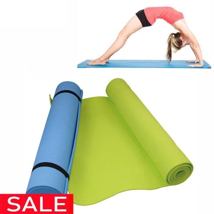 Tapis de yoga en mousse de confort EVA épais de 6 mm pour le yoga de l'exercice et le tapis de Pilates
