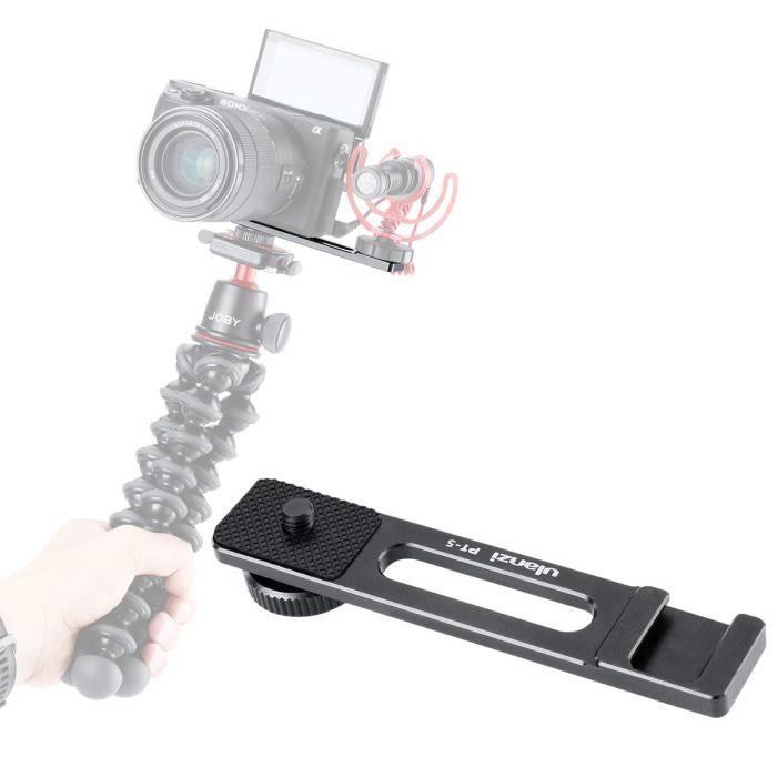Barre d'extension de support pour patin de glace ULANZI PT-5 Vlog Appliquer pour Microphone Lumière vidéo LED avec vis de trépied de