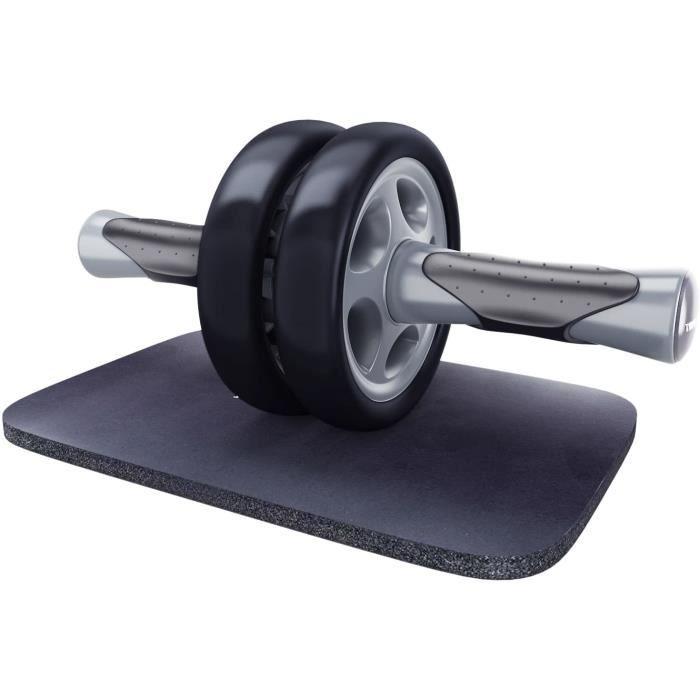KYLIN SPORT Roue Abdominale AB Wheel Roller Pro de Fitness et Musculation de Corp-Appareil Abdominal avec Tapis Epais pour Genoux