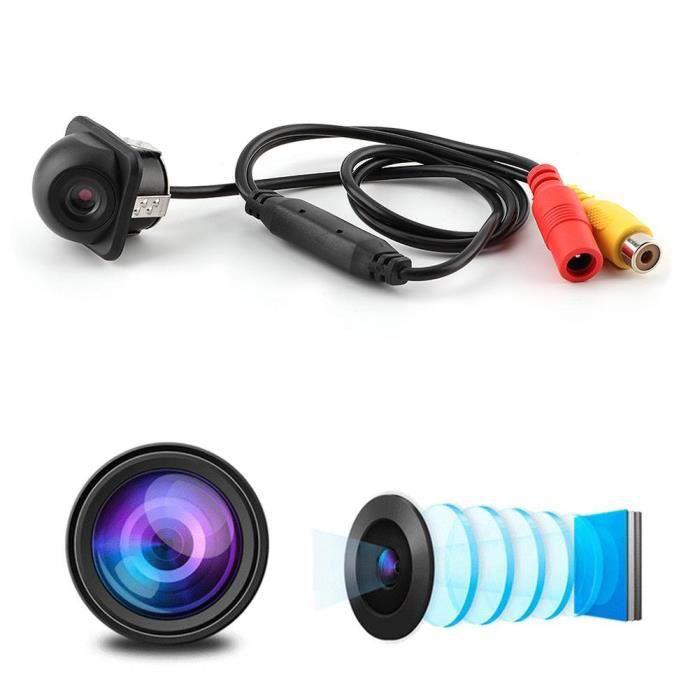 Tbest caméra de recul étanche Caméra de recul universelle pour voiture petit chapeau de paille vue arrière caméra de vision