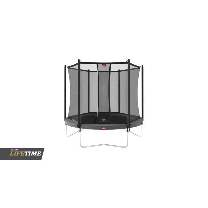 Trampoline BERG Favorit Regular 330 Grey + Safety Net Comfort - Référence : 35.11.33.00