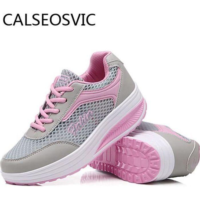 Baskets Femme Running Chaussures Gris