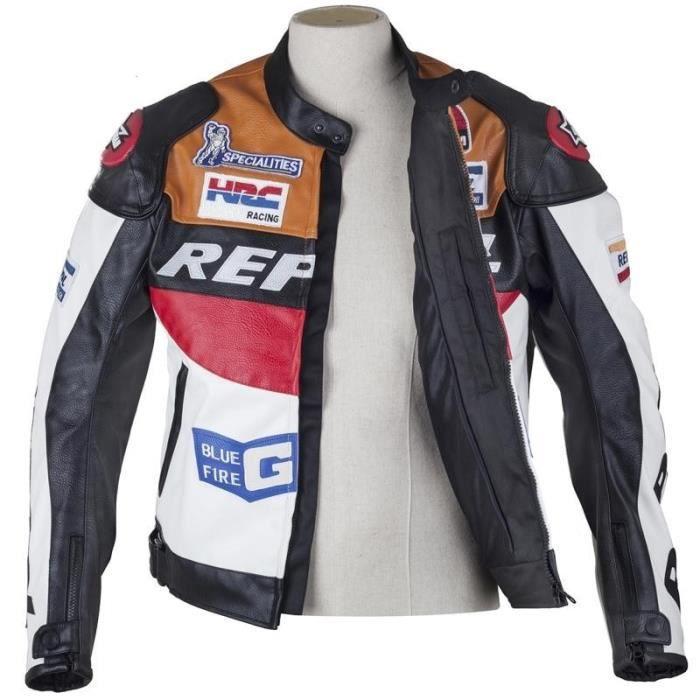DUHAN moto étanche Racing cuir PU Blouosn