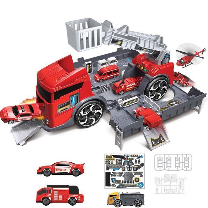 AvanC 1/24 Véhicule Voiture Jouet Voiture Inertielle Pompier Garçons Jouets pour Enfants Cadeau Camion de pompiers