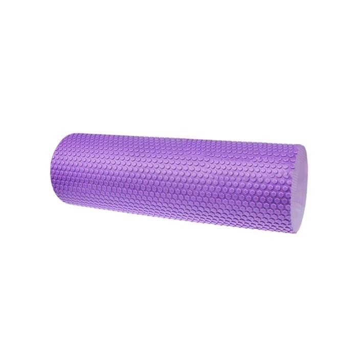 Colonne durable de rouleau de mousse de Pilates de yoga de massage d'exercice de 15x30, violet