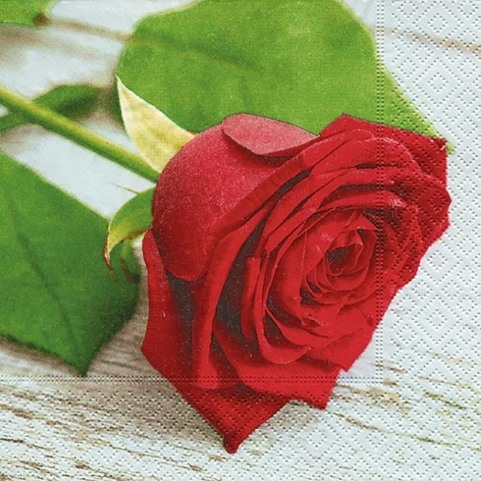 PAPER DESIGN - 20 Serviettes 33x33 cm - Lovely rose