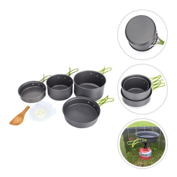 1 Ensemble USTENTINES BIEN Agréable Sûr Chic Pot Alumine Pan de Cuisine en popote - vaisselle - couverts camping - camp de base