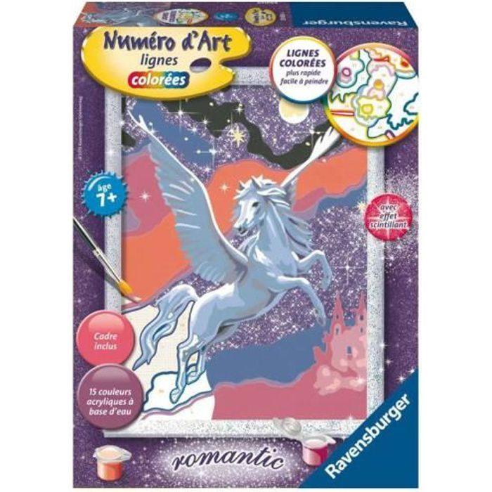 Ravensburger - Numéro d'art - moyen - Etincelant Pégase - multicolore