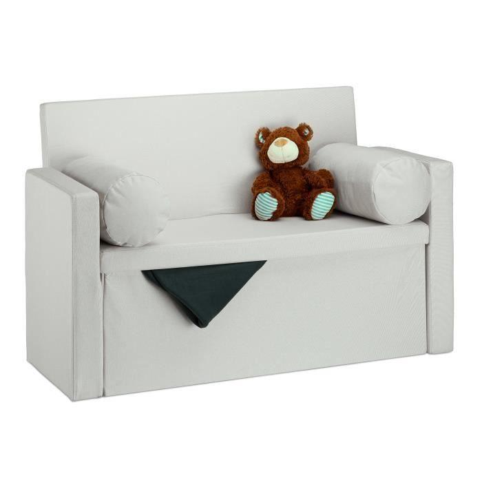 Relaxdays Banc avec dossier 2 places banquette coffre de rangement pliable assise pratique pliant HxlxP: 75x115x47 cm -