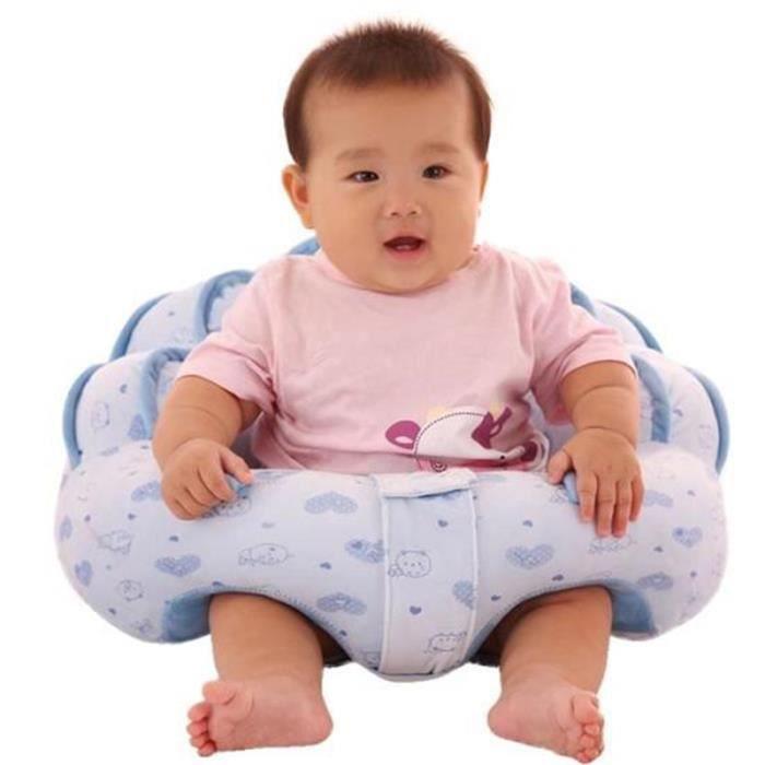 Bleu Siège Bébé Assis Canapé Chaise Tout Doux Confort Peluche Jouet pour Garçon dans Maison 3-16 mois