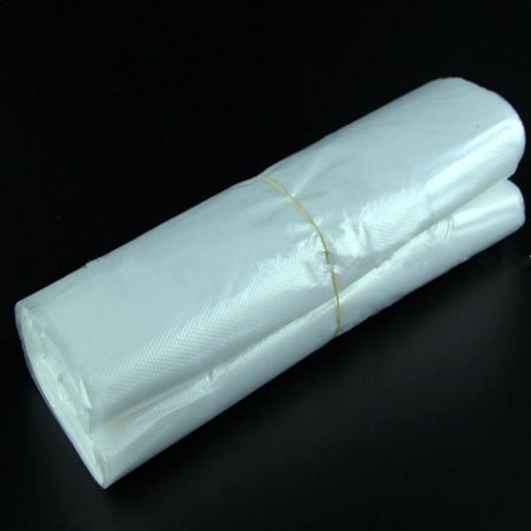 LOT DE 100 SACS BRETELLE PLASTIQUE Transparent Sachet Pochette Poche 28.5X18cm