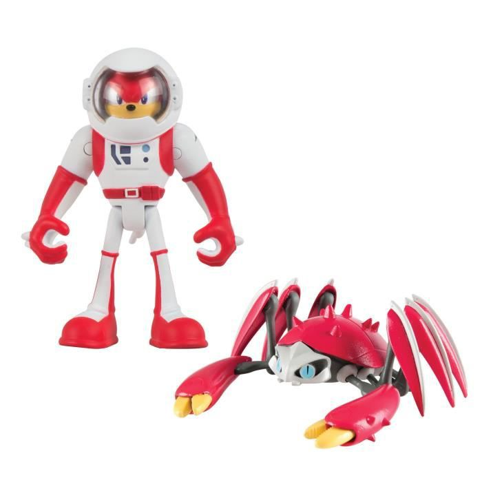 Figurine Miniature TOMY Sonic Boom 2 Figure Pack, Spacesuit Knuckles et Crabmeat Action Figure NKZ8O