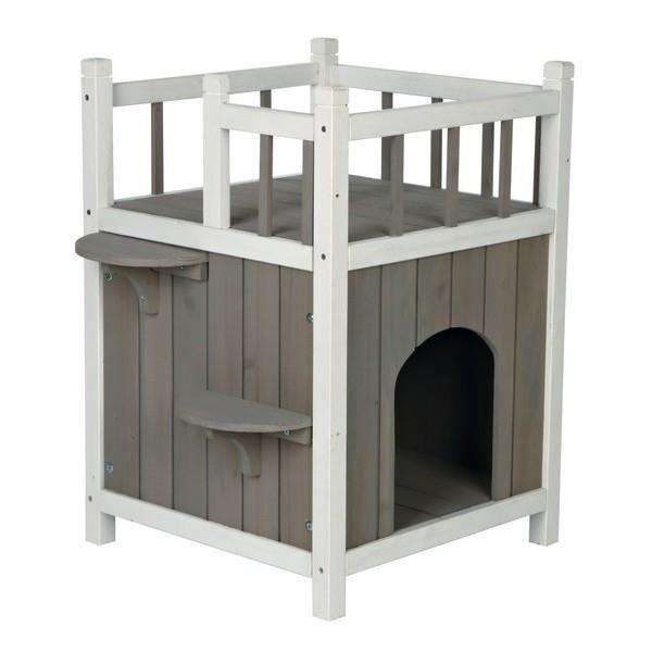 Maison pour chats avec balcon
