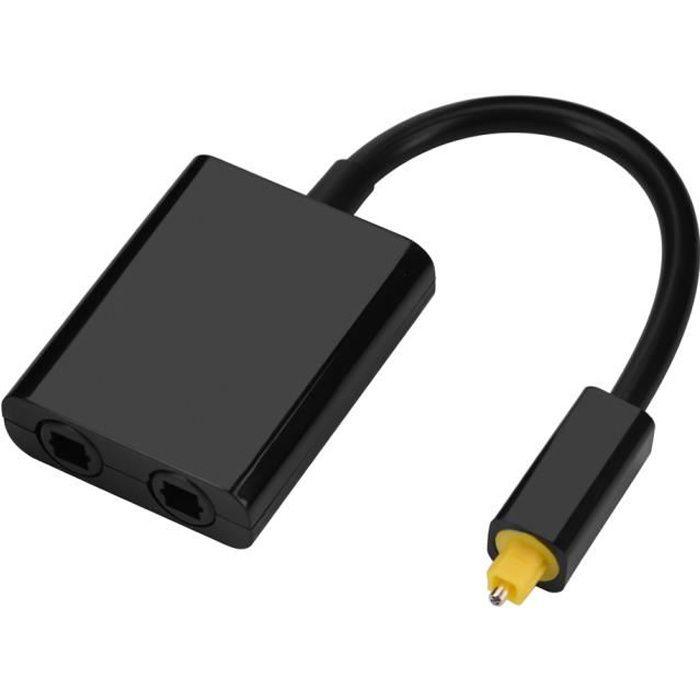 SBS /® c/âble optique toslink 2 m noir-c/âble num/érique optique audio hi-fi