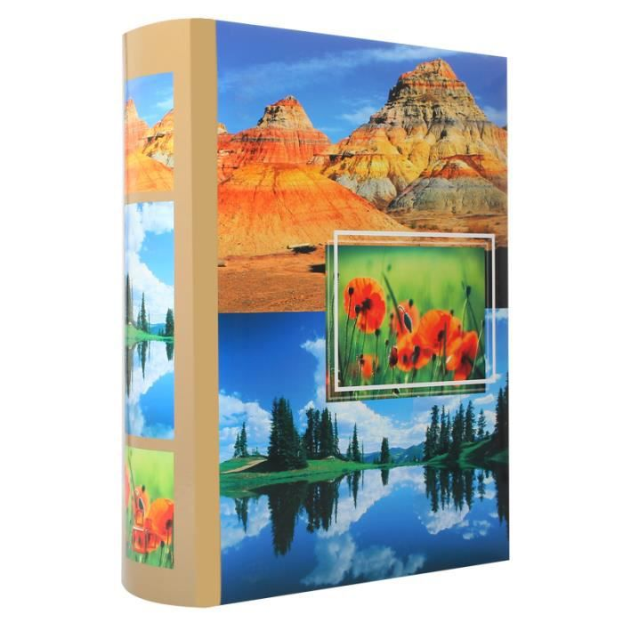 album photo pochette montagne 300 photos 10x15 cm achat vente album album photo album. Black Bedroom Furniture Sets. Home Design Ideas