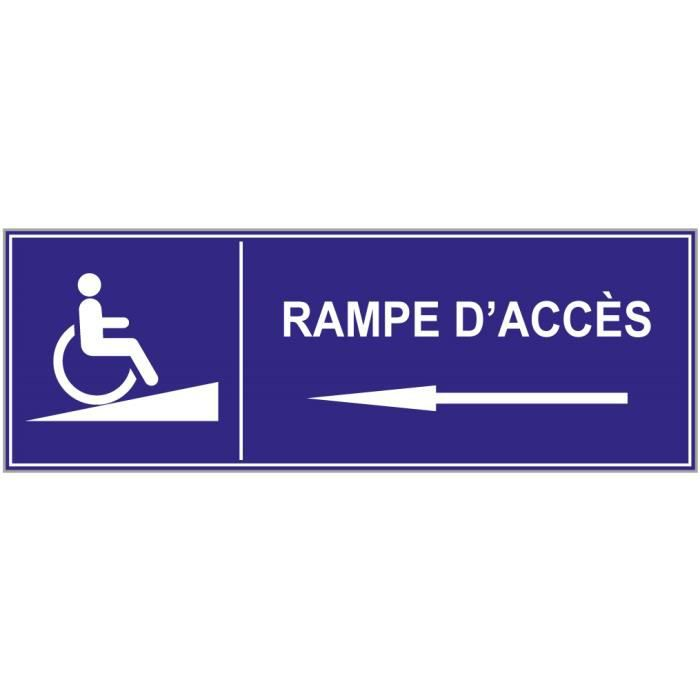 Rampe acc s handicap sticker 350 x 125 mm achat for Rampe d acces handicape