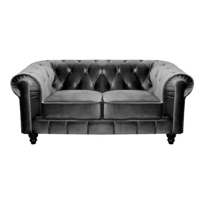 canape chesterfield velour pas cher. Black Bedroom Furniture Sets. Home Design Ideas