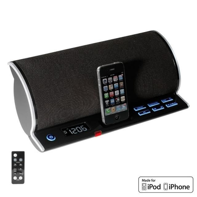 station d 39 accueil radio reveil pour iphone ipod station d 39 accueil avis et prix pas cher. Black Bedroom Furniture Sets. Home Design Ideas