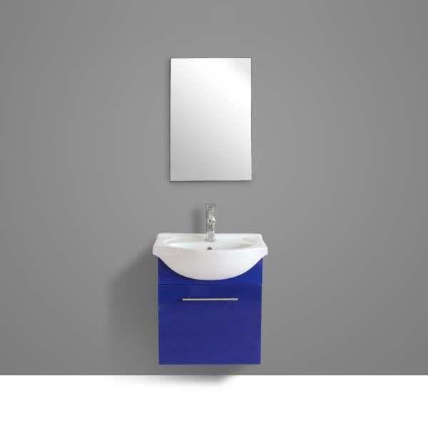 Ensemble meuble de salle de bain - Simple vasque avec miroir ...