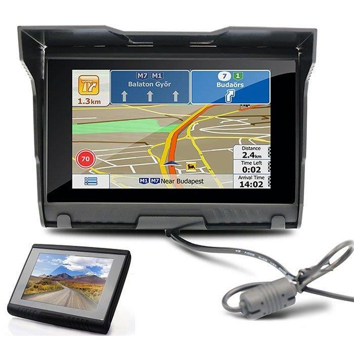 """GPS AUTO 5"""" 8GB GPS pour voiture moto Bluetooth NAV étanche"""