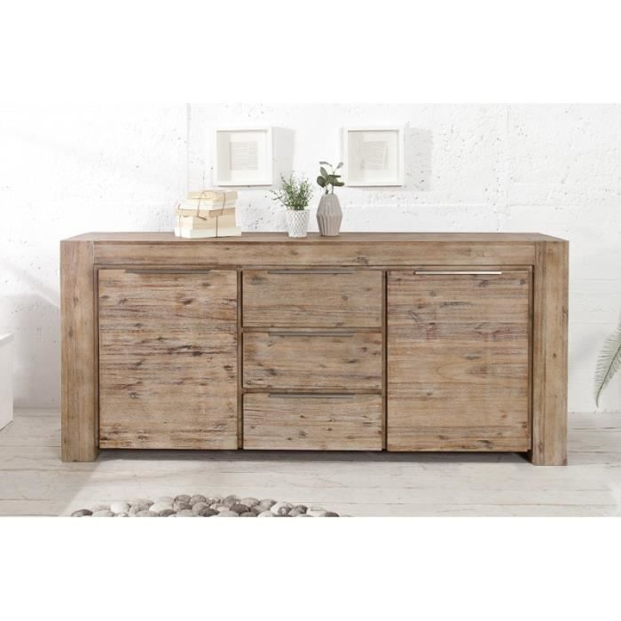 casa padrino tv commode 180 cm meuble tv buffet bois v ritable unique achat vente. Black Bedroom Furniture Sets. Home Design Ideas