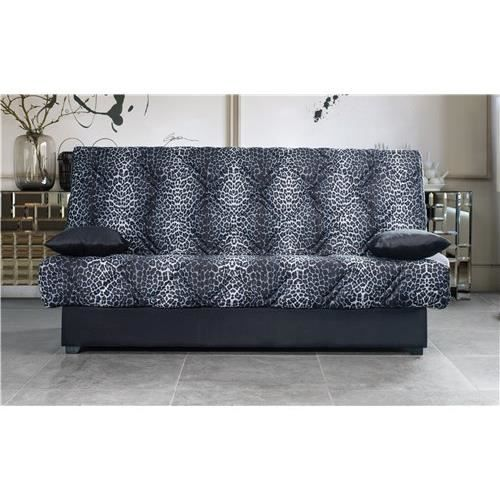 clic clac canap periko leopard a achat vente clic. Black Bedroom Furniture Sets. Home Design Ideas