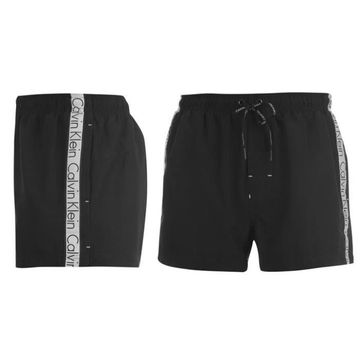 short maillot de bain homme calvin klein noir achat vente short cdiscount. Black Bedroom Furniture Sets. Home Design Ideas