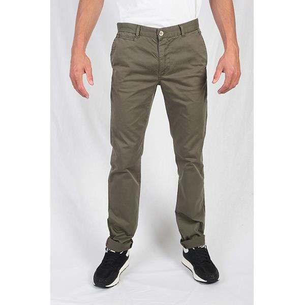 chino homme hero seven kaki vert achat vente pantalon cdiscount. Black Bedroom Furniture Sets. Home Design Ideas