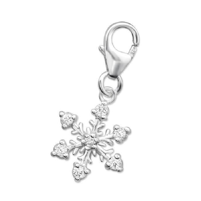 Charm Pampille à Fermoir Flocon Argent 925