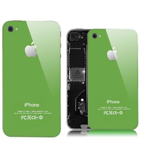 coque arriere vitre iphone 4 verte vert unique achat vente coque arriere vitre iphone. Black Bedroom Furniture Sets. Home Design Ideas