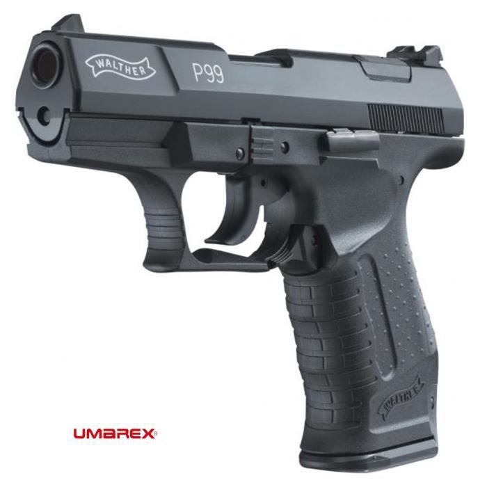Walther p99 black arme de d fense cal 9mm p a k prix pas for Arme defense maison
